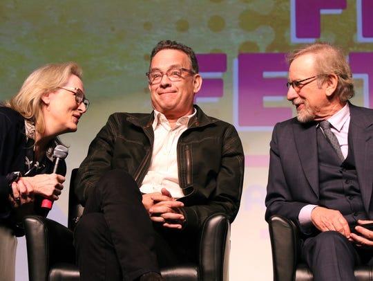 Actors Meryl Streep, Tom Hanks and director Steven