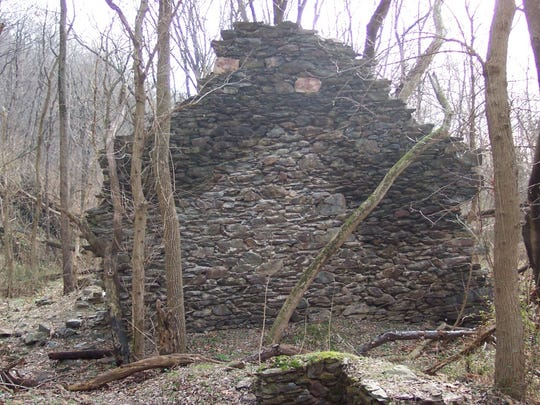 Wall of tenement house at the Henry Clay Furnace location.