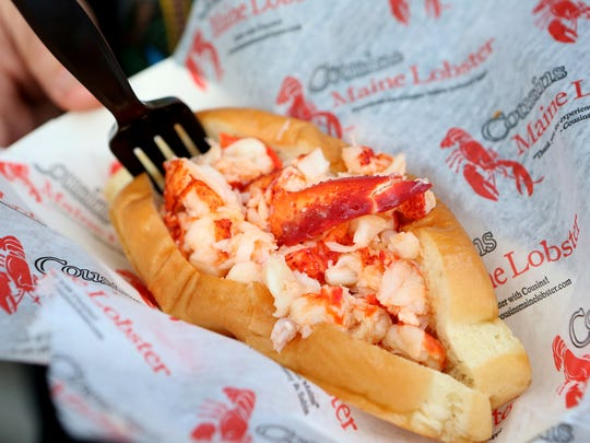 The Cousins Maine Lobster food truck serves lobster rolls and more.