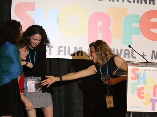 The Youth Jury awards presentation provided one of the lighter moments of the ShortFest Awards Brunch at the Riviera Resort Conference Center in Palm Springs on Sunday.