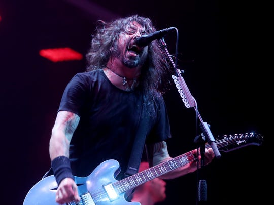 The Foo Fighters perform at Bridgestone Arena Friday May 4, 2018.