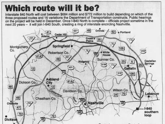 A copy of a Tennessean graphic published in a 1995