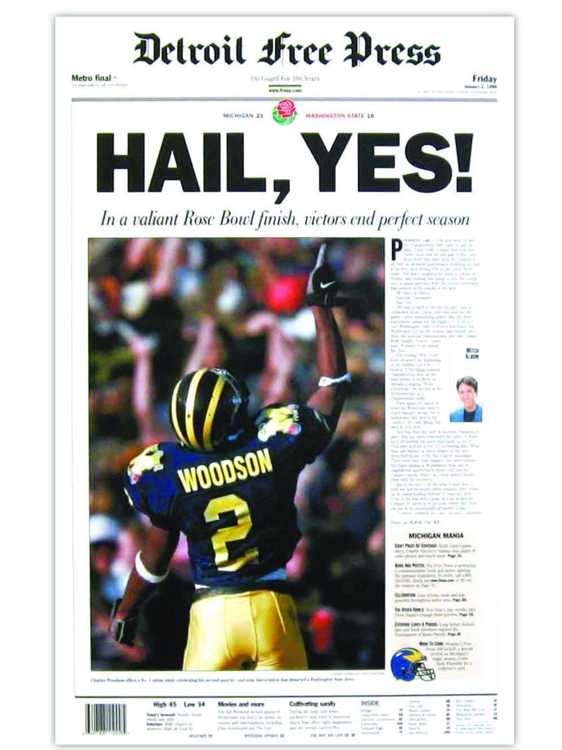 1998, Michigan wins national title.