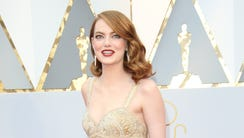Lights! Cameras! Action!  Emma Stone is golden on the