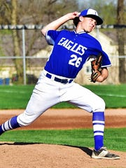 Lakeland pitcher Jake Spry fires the ball toward the