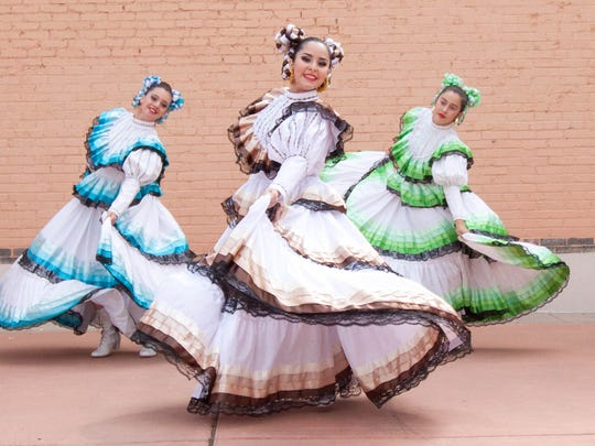 Ballet Folklorico of El Paso make perform during the La Llorona Festival at the Branigan Cultural Center on Saturday.