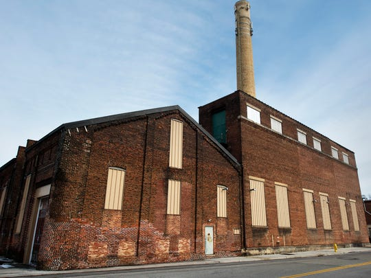 The former steam plant and building at far right at