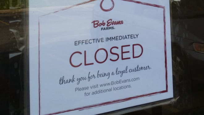 Bob Evans in New Castle closed Sunday