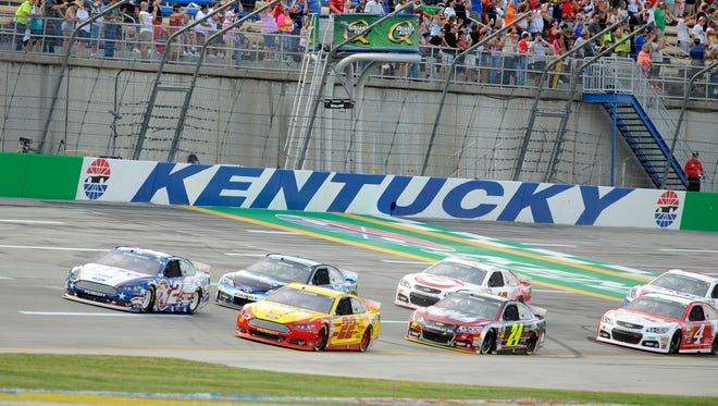 Kentucky Speedway hosts its lone NASCAR Sprint Cup race Saturday night.
