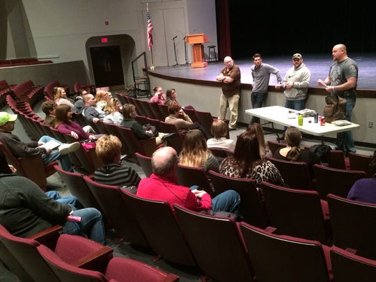 The Wayne County Drug Task force presented a community forum on substance abuse Wednesday night at Richmond High School's Civic Hall.
