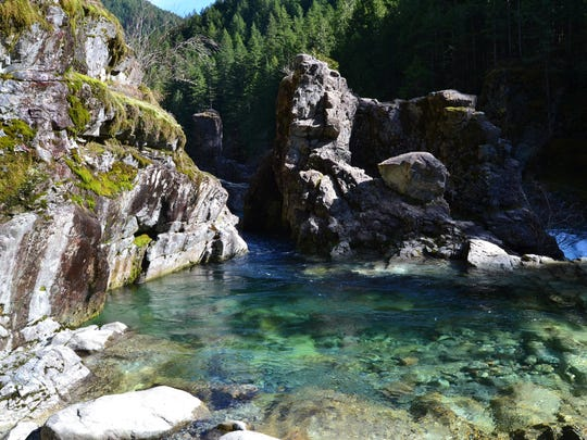 Three Pools is one of the sites within the Opal Creek Wilderness area.