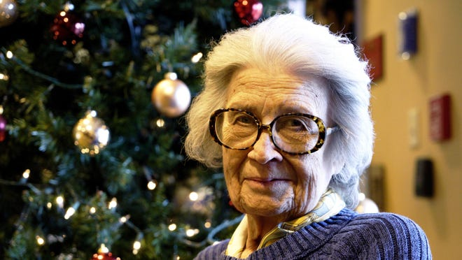 Martha Page, a resident of Brightview Baldwin Park, can often be found in the community living room greeting visitors and talking with other residents.