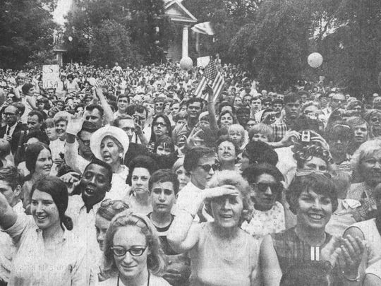 Huge crowds attended the Hollybush Summit in Glassboro in 1967.