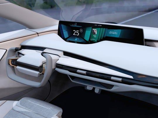 In Faurecia's Cockpit of the Future, when the driver
