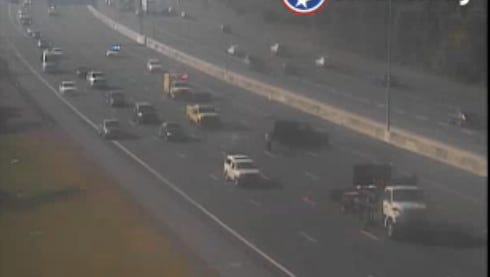 A crash north of Harding Place blocks several lanes of northbound I-65 in Davidson County