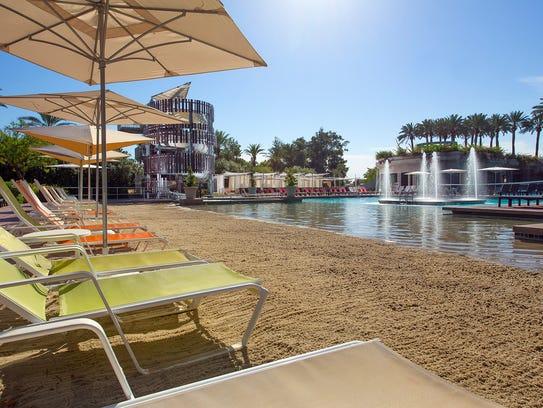 The beach at the Hyatt Regency Scottsdale Resort &