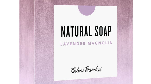 Edens Garden's Lavender Magnolia soap bar.