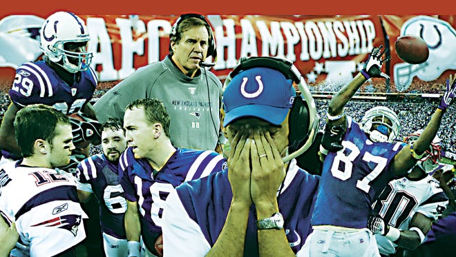 """""""Poetic justice,"""" Tony Dungy said of the 2007 AFC Championship Game."""