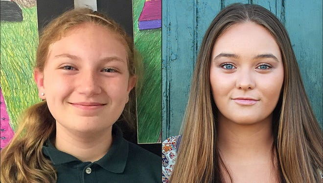 Rachel Mackie, of Dover, and Kayleigh Barnes, of Bridgeville, are Delaware's recipients of the Prudential Spirit of Community Awards.