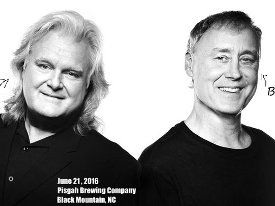 Ricky Skaggs and Bruce Hornsby will play a show to benefit Pisgah Legal Services at Pisgah Brewery on June 21.
