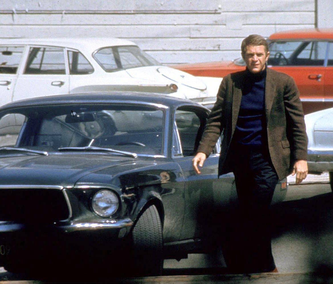 Steve McQueen in a scene from the motion picture