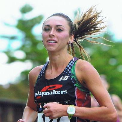 Former Livonia Churchill long-distance running star Rachel McFarlane qualified for the 2016 U.S. Olympic Marathon Trials at Sunday's Detroit Free Press Talmer Bank International Half Marathon.