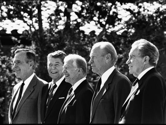 George H.W. Bush, Ronald Reagan, Jimmy Carter, Gerald