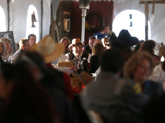 Community members gather Saturday for the Aztec Chamber
