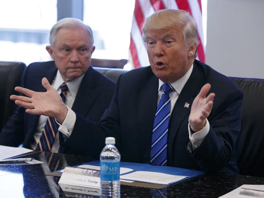 Attorney General Jef Sessions and President Donald Trump.