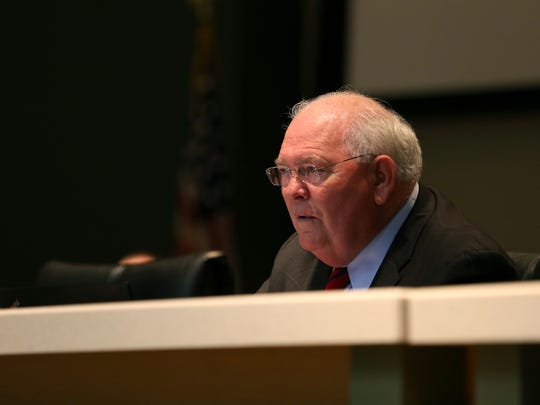 Sen. Bill Montford, D-Tallahassee, discusses future spending bills on the first day of the special session at the Capitol on Wednesday, June 7, 2017.