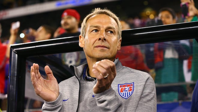 USA head coach Jurgen Klinsmann. The coach spent much of his Friday press conference talking about why Landon Donovan was left off the World Cup team.