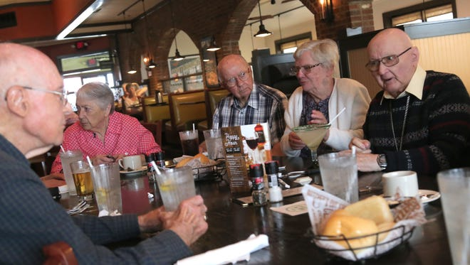 Members of the Mansfield Senior High School class of 1946 meet for lunch once a month.