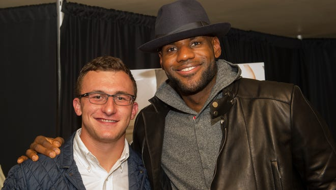 LeBron James, right, says he's worried about Johnny Manziel as a person.