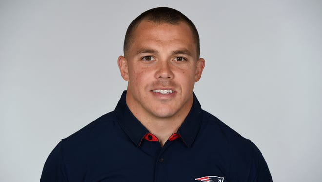 This is a 2017 photo of Ray Ventrone. He will join the Indianapolis Colts as special teams coach.
