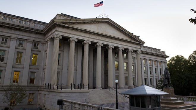 The U.S. Treasury on Pennsylvania Avenue in Washington, DC.