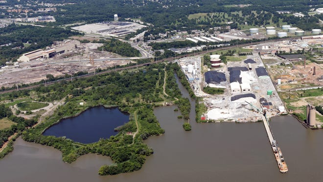 The Delaware River in Claymont is shown. The Coastal Zone Act, passed in the 1970s, has limited development along the state coastline, but some business leaders want the landmark legislation to be reformed.