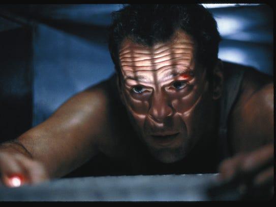 Bruce Willis vented in 'Die Hard.'