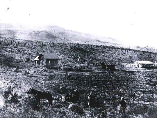 View southwest toward Gray Butte.