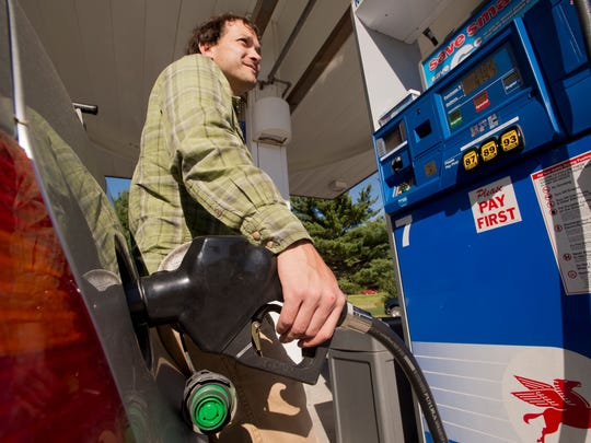Gas prices averaged $2.35 per gallon in Burlington on Thursday, down nearly 16 cents per gallon from last week.