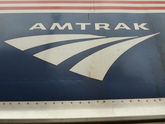 An Amtrak train logo