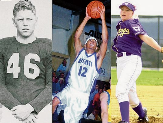 Courtesy Photo   Lee Barnes, left, Matt Enriquez, middle and Angela Corliss will all enter Western New Mexico University's Hall of Fame in October.