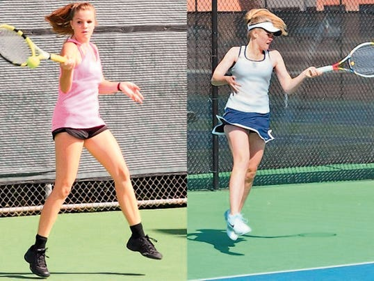 Courtesy Photo   Audrey Spencer, left, and Emma Goodland will join the WNMU tennis program this season.