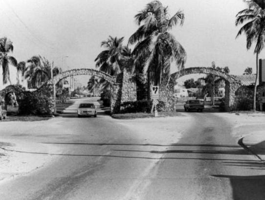 The Fort Myers Beach Arches were demolished to make way for the Matanzas Pass bridge.