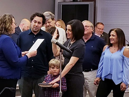 Cristina Cutrone was sworn in to the vacated council seat