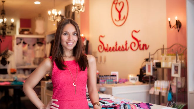 Angela Courtney, owner of Sweetest Sin Boutique in Red Bank.