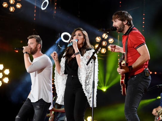 Charles Kelley, Hillary Scott, and Dave Haywood of
