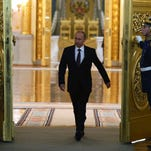 President Vladimir Putin at the Kremlin on March 18, when he signed a treaty to make Crimea a part of Russia.