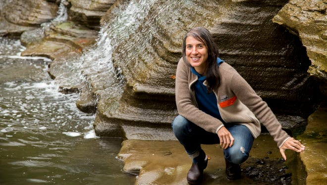 A book by author Megan Shull, pictured in Ithaca in September, has been made into a TV movie that will be shown Oct. 7 on the Disney Channel.