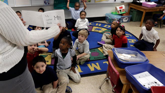 A kindergarten class in Indianapolis in March.