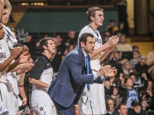Yanni Hufnagel, a Scarsdale native, has moved on from his position as an assistant coach at Vanderbilt, above, to a spot on Cal's staff.